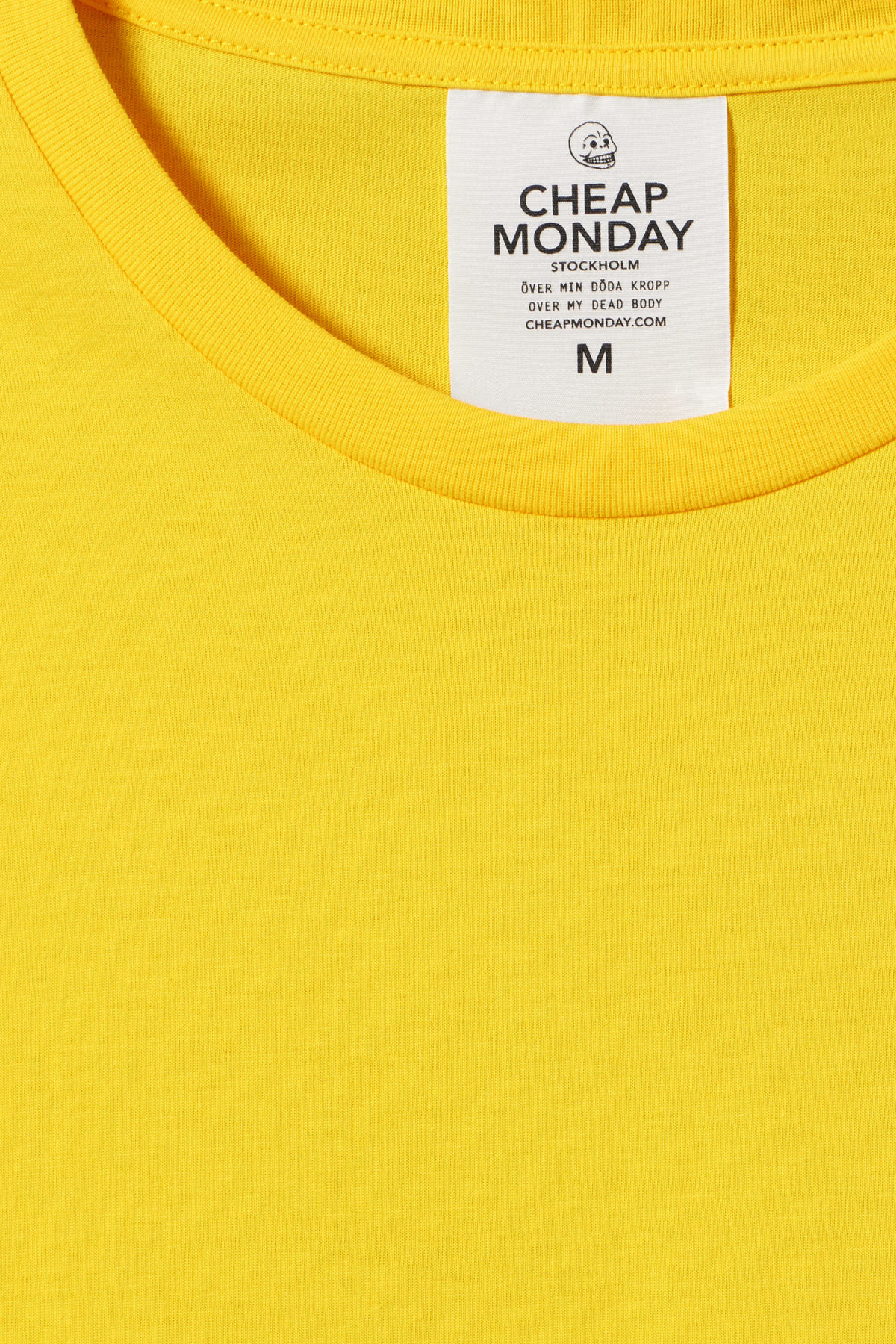 Detailed image of Weekday standard tiny skull t-shirt  in yellow