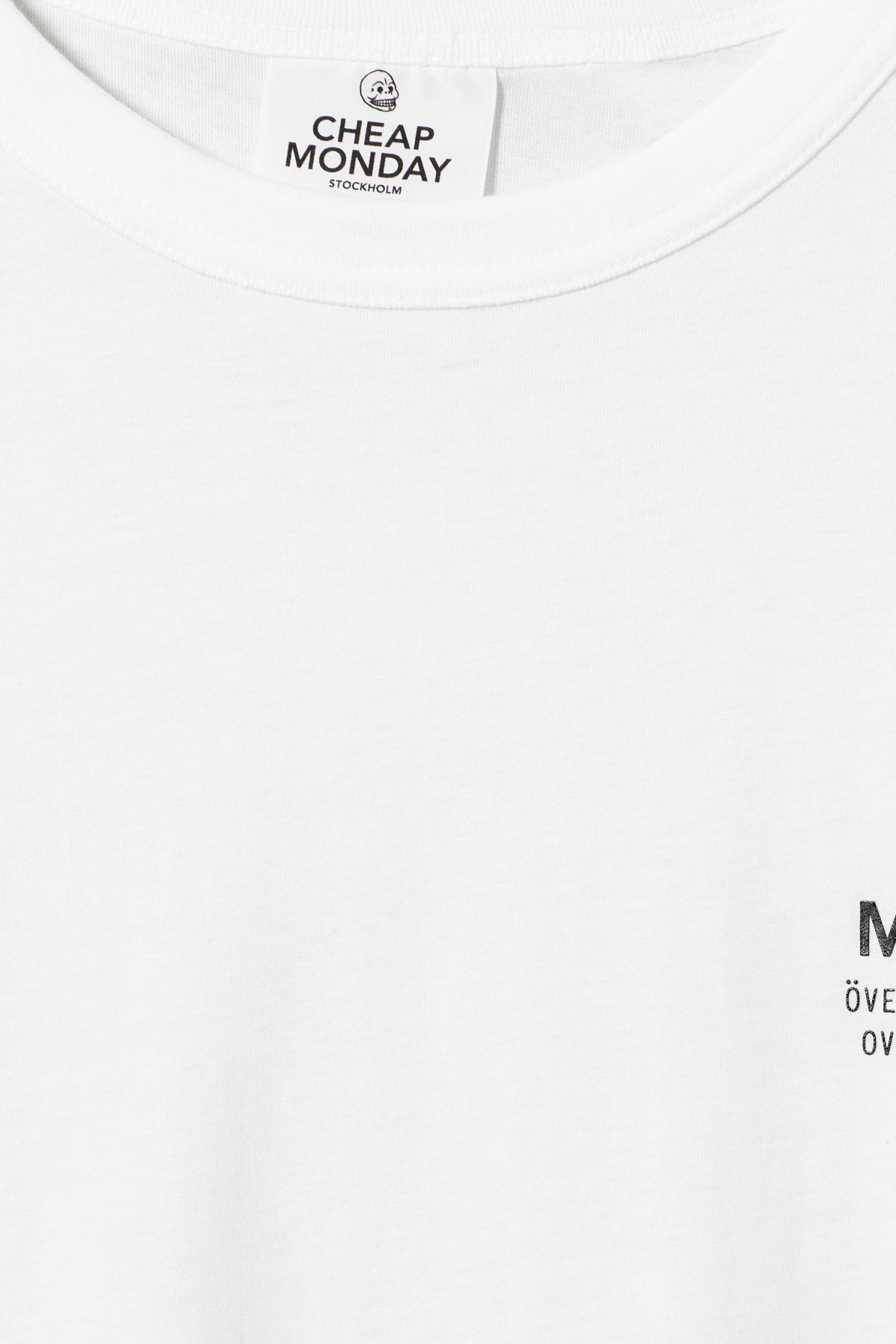 Detailed image of Weekday boxer sender tee in white