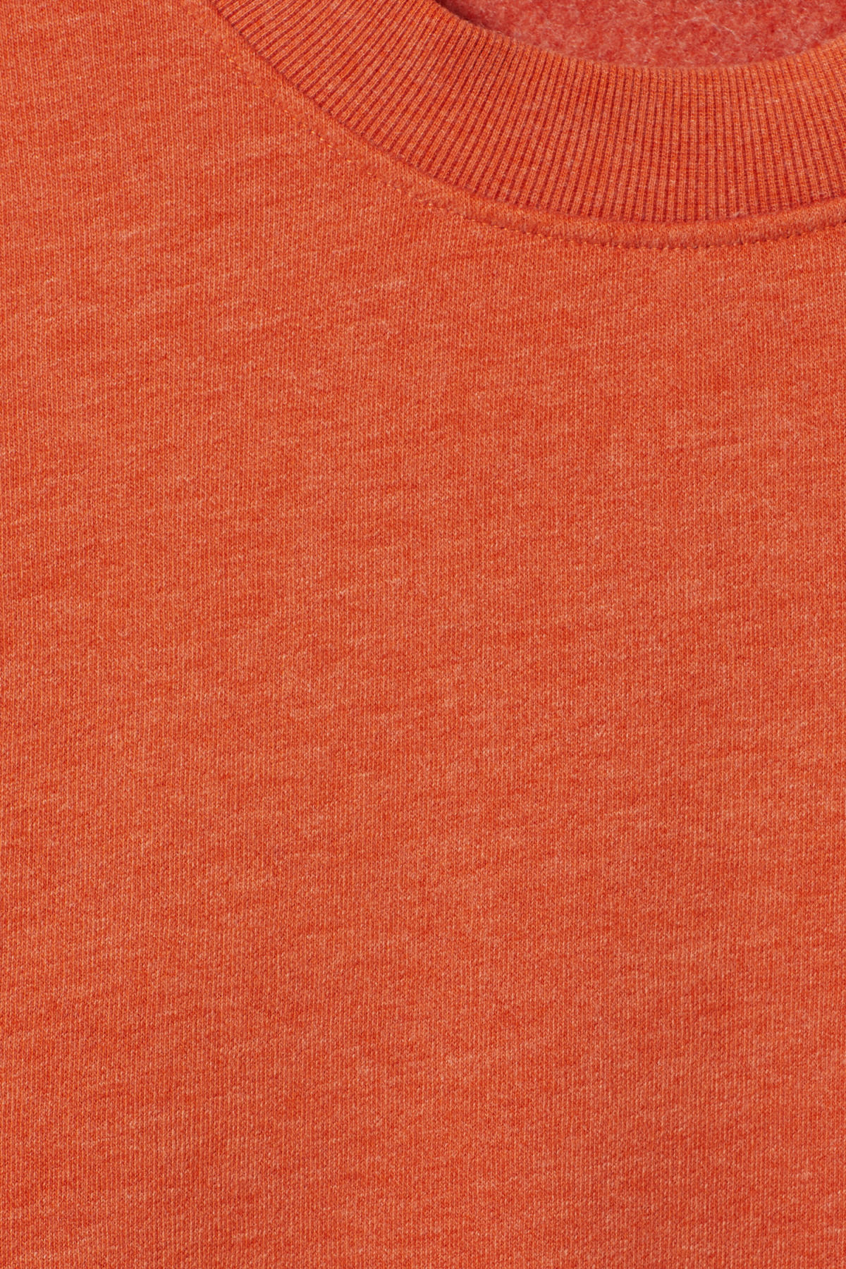 Detailed image of Weekday score sweatshirt in orange