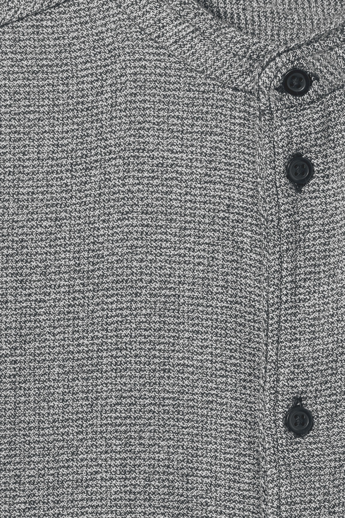Detailed image of Weekday hunt salt and pepper shirt in black