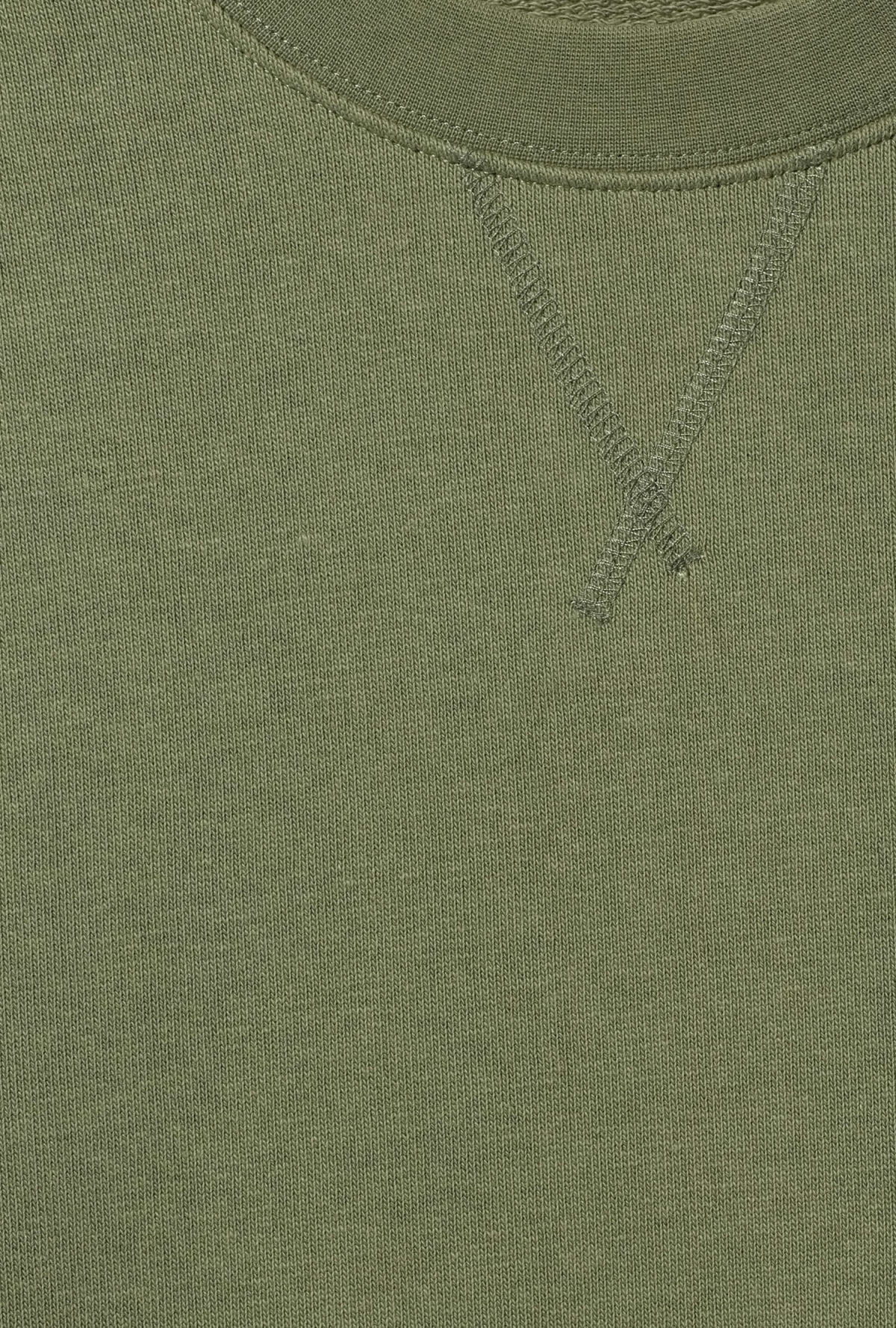 Detailed image of Weekday jeffrey sweatshirt in green