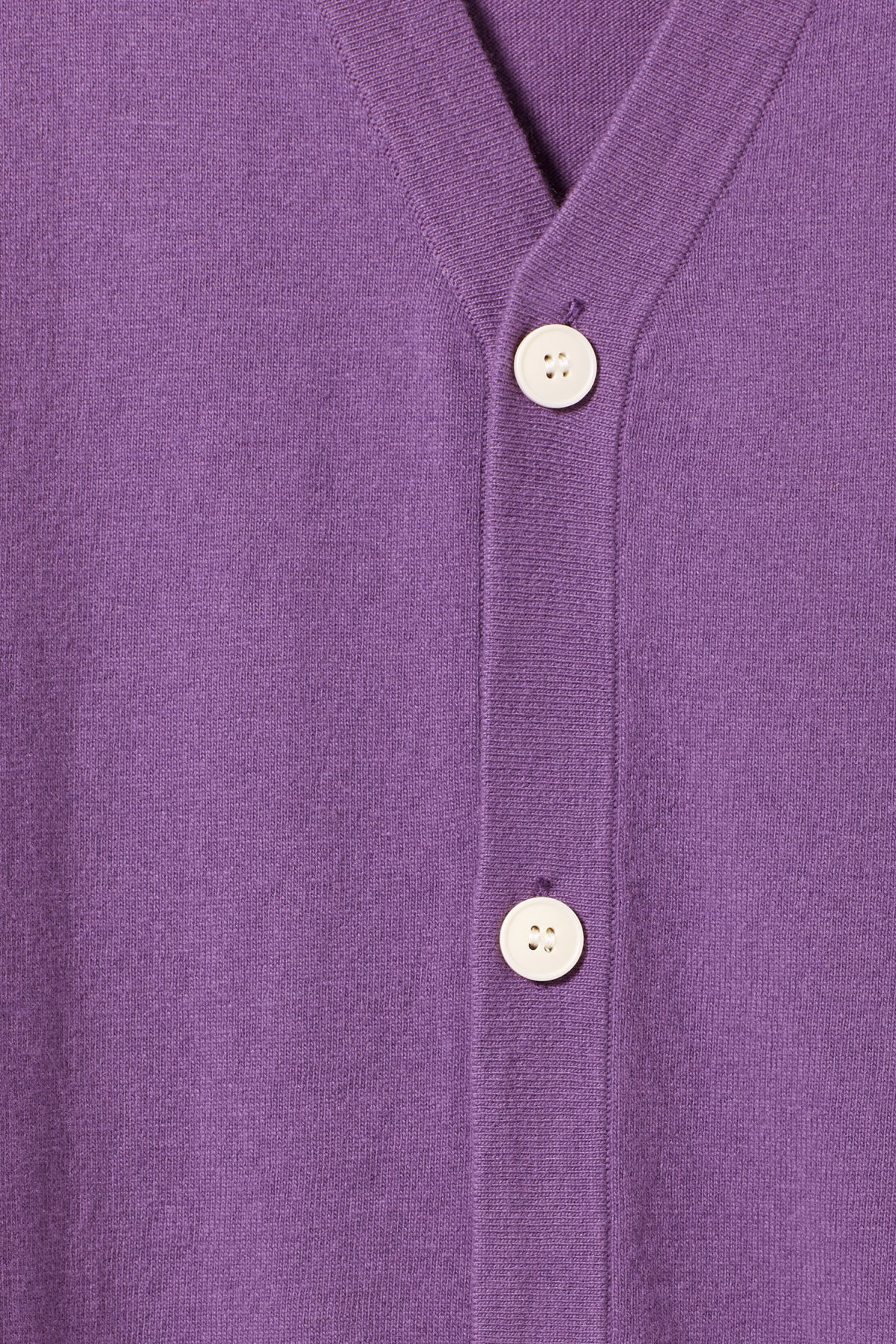 Detailed image of Weekday morgan cardigan in purple