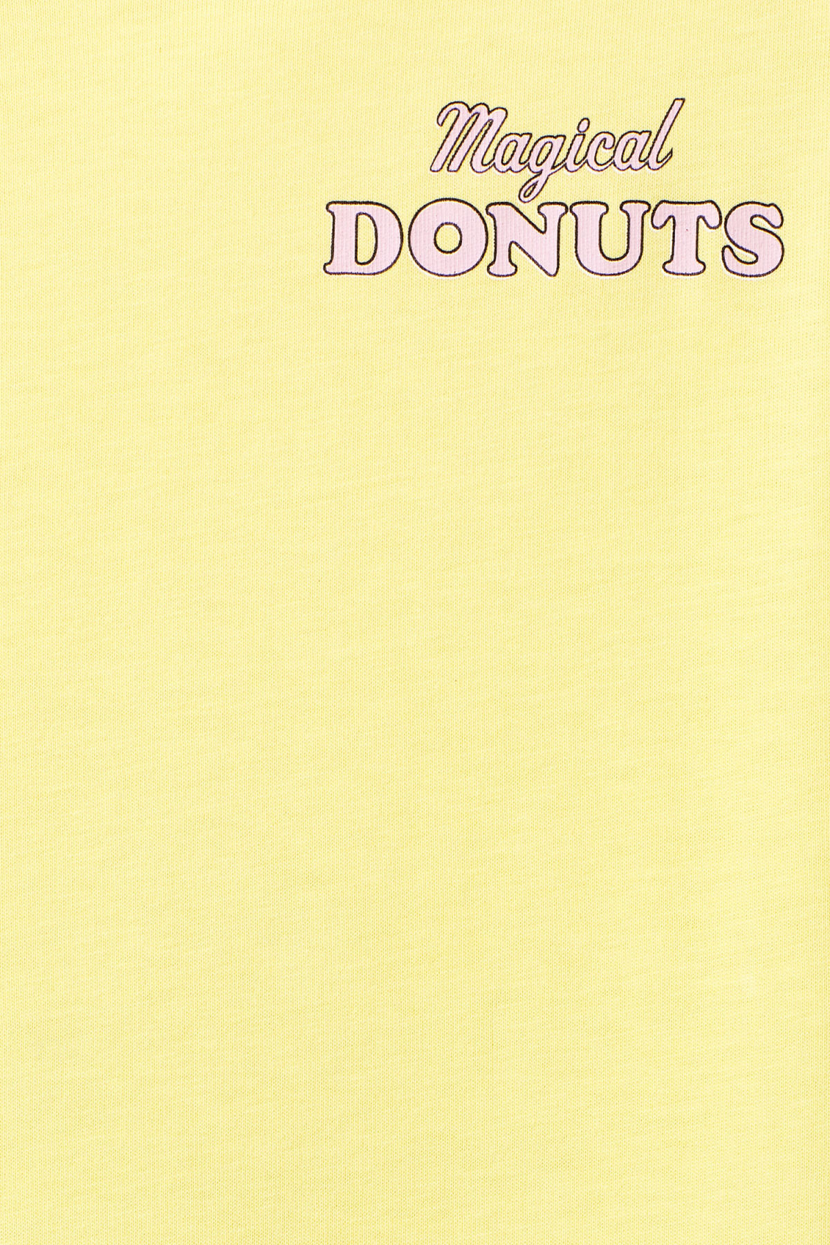 Detailed image of Weekday frank donuts t-shirt in yellow