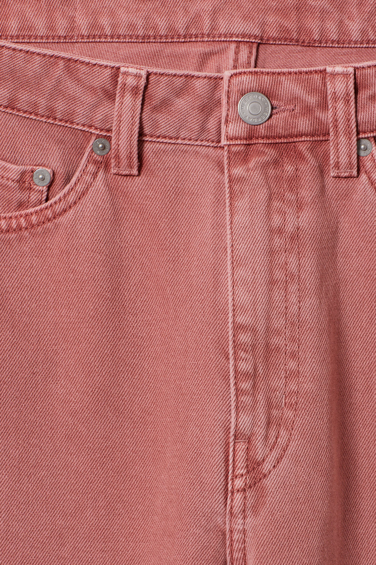 Detailed image of Weekday row rose jeans in orange