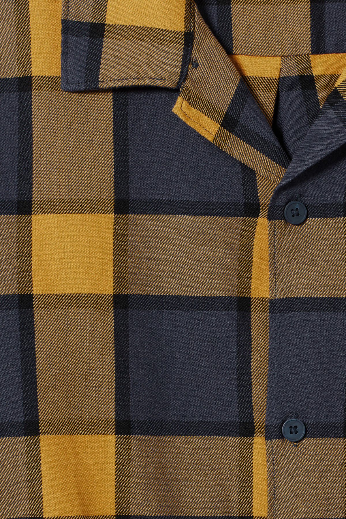 Detailed image of Weekday malte check shirt in blue