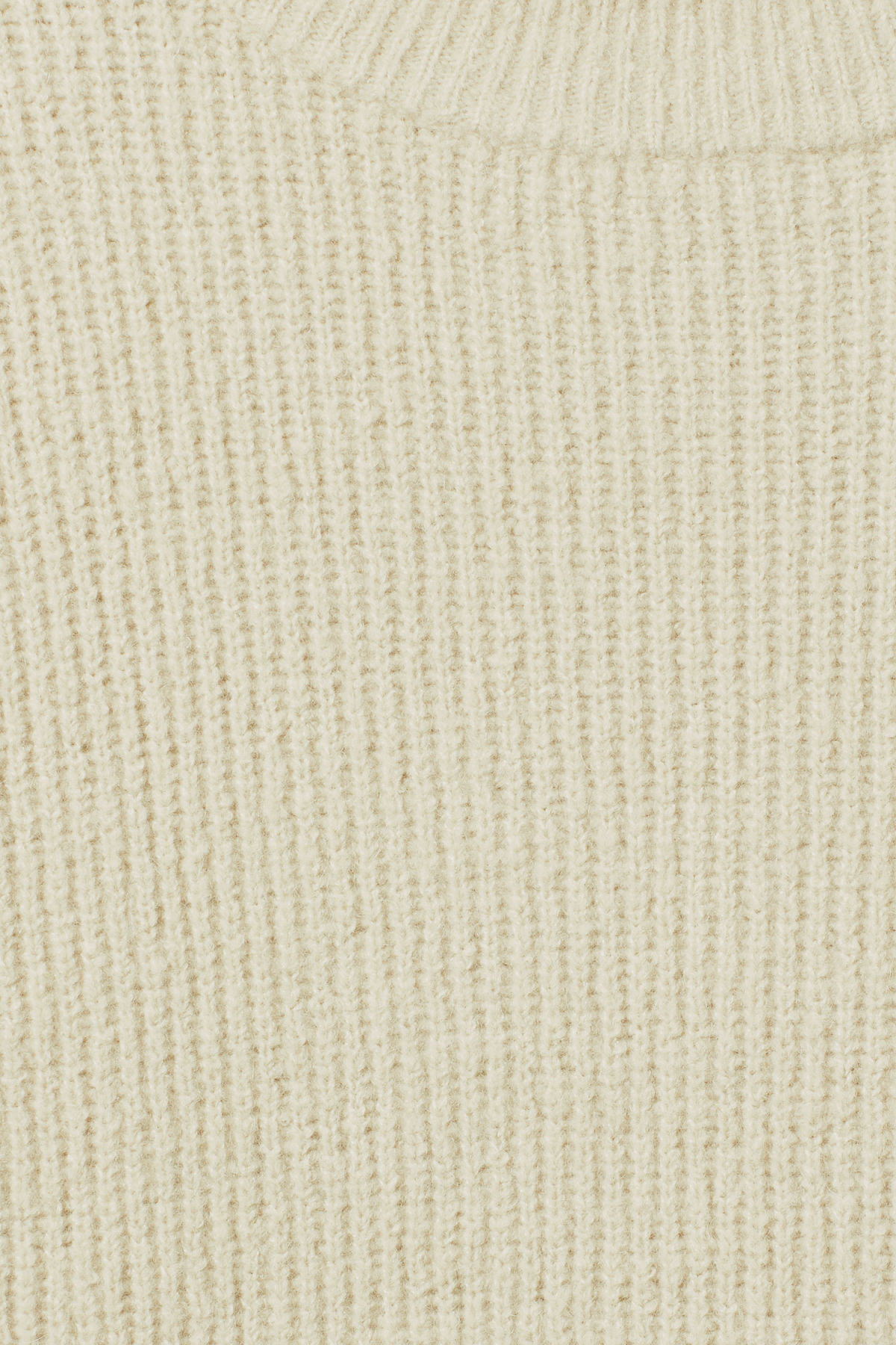 Detailed image of Weekday marco sweater in beige