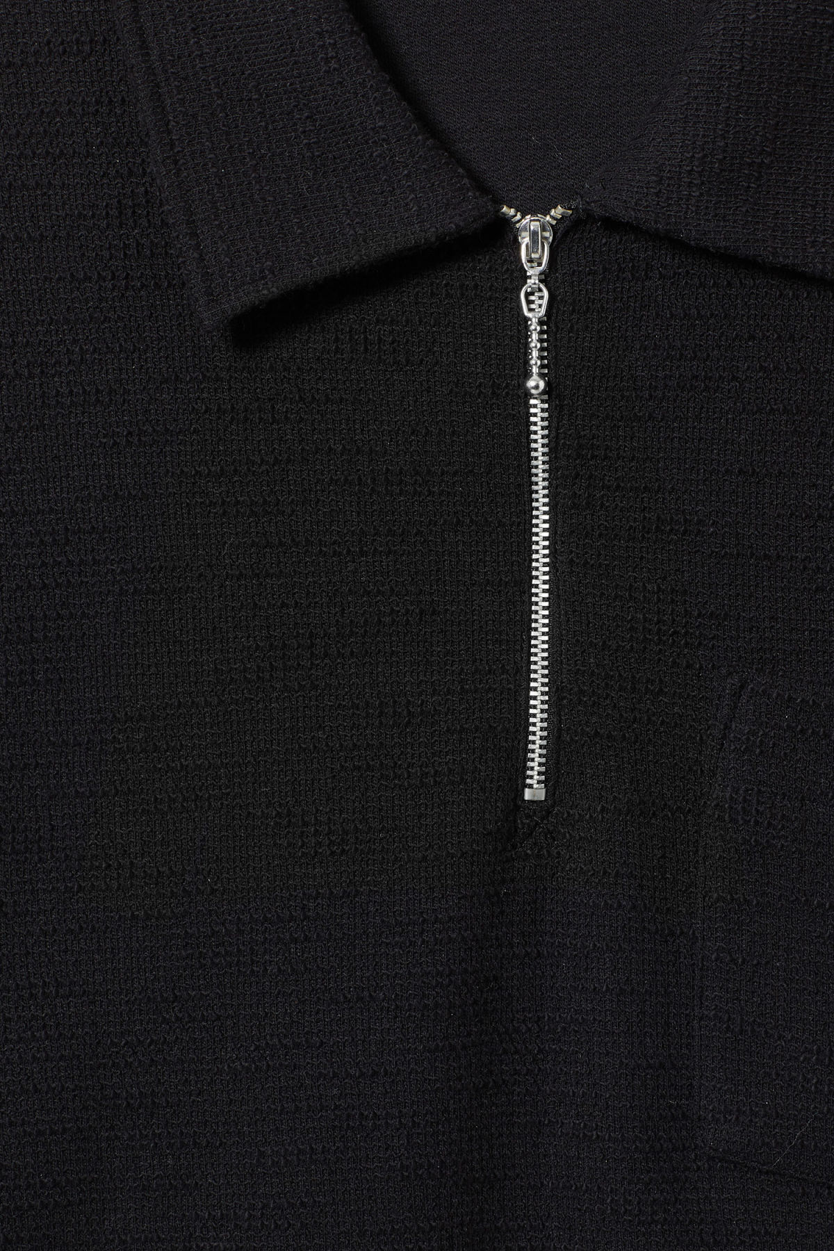 Detailed image of Weekday nilo shawl collar in black
