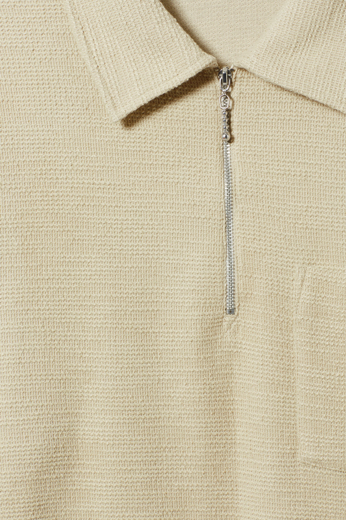 Detailed image of Weekday nilo shawl collar in beige
