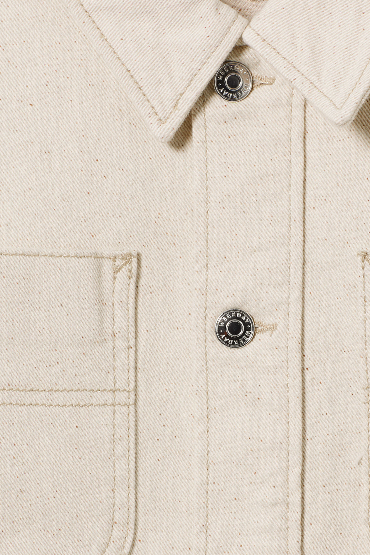 Detailed image of Weekday marybeth jacket in beige