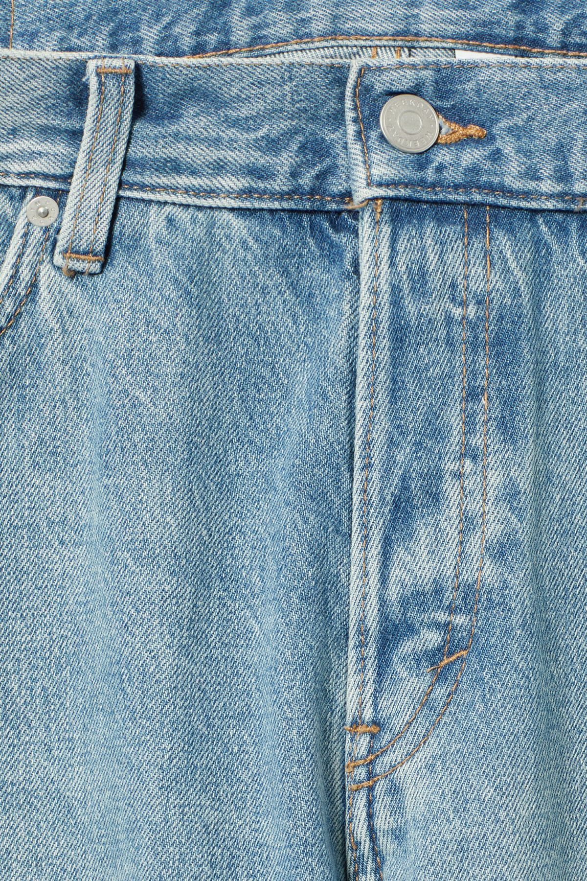 Detailed image of Weekday barrel seven blue jeans in blue