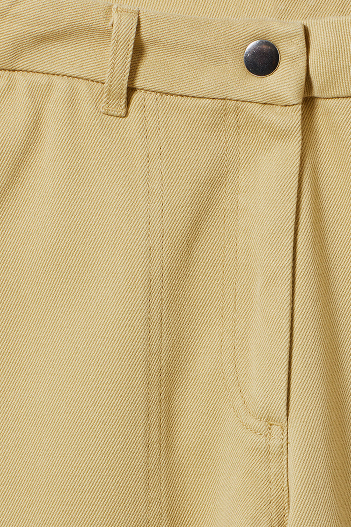 Detailed image of Weekday kim trousers in yellow