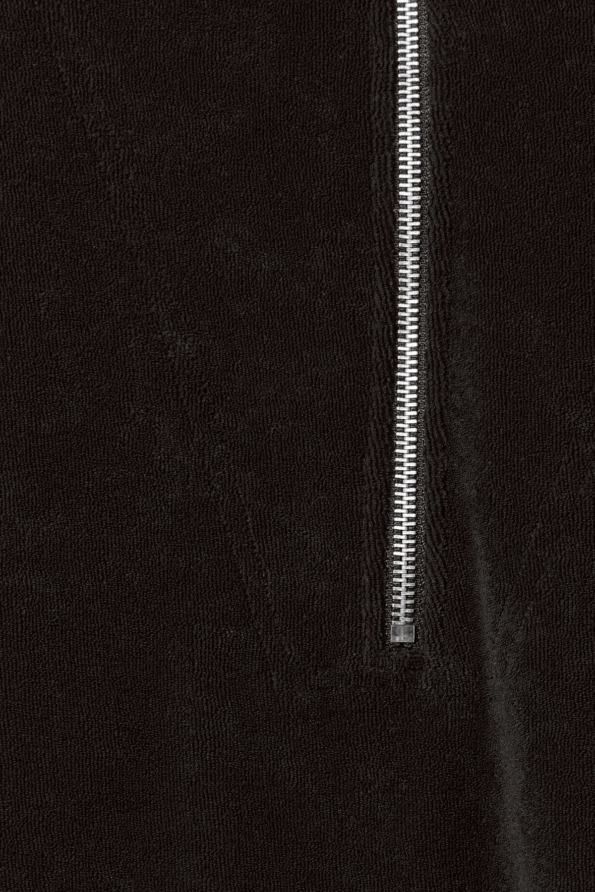 Detailed image of Weekday terry halfzip sweatshirt in black