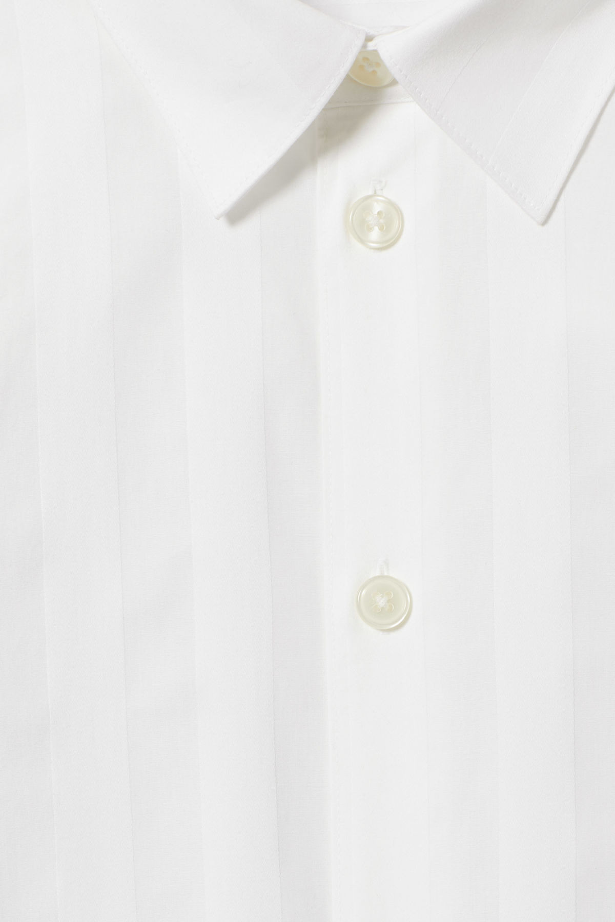 Detailed image of Weekday miguel shirt in white