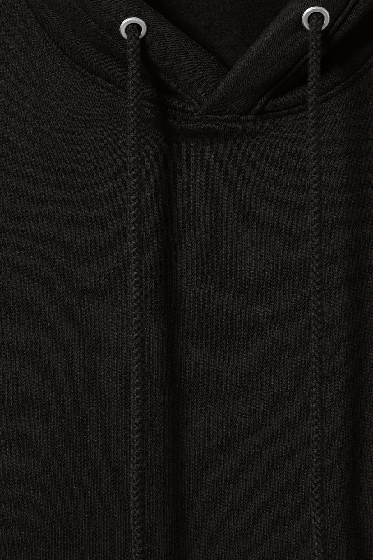 Detailed image of Weekday ailin hooded sweatshirt in black