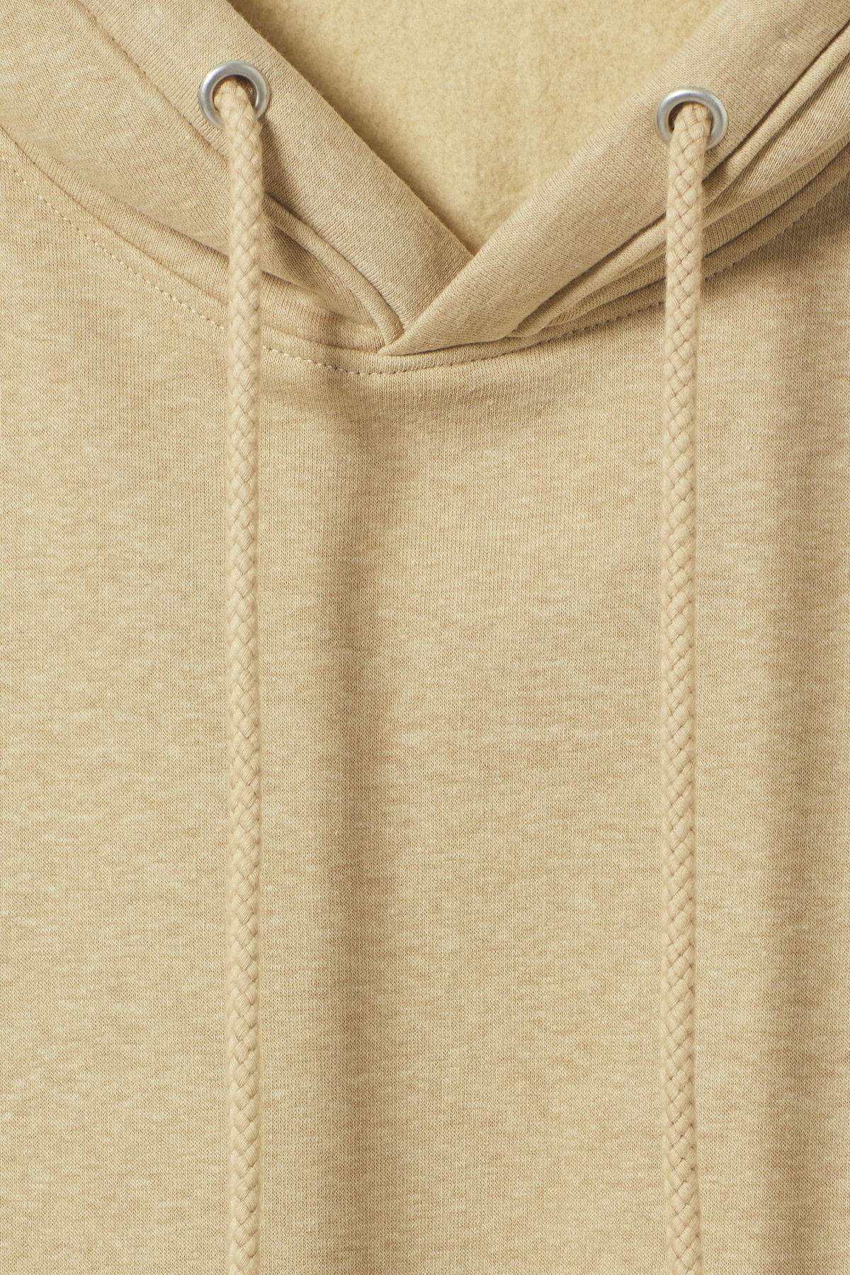 Detailed image of Weekday ailin hooded sweatshirt in beige