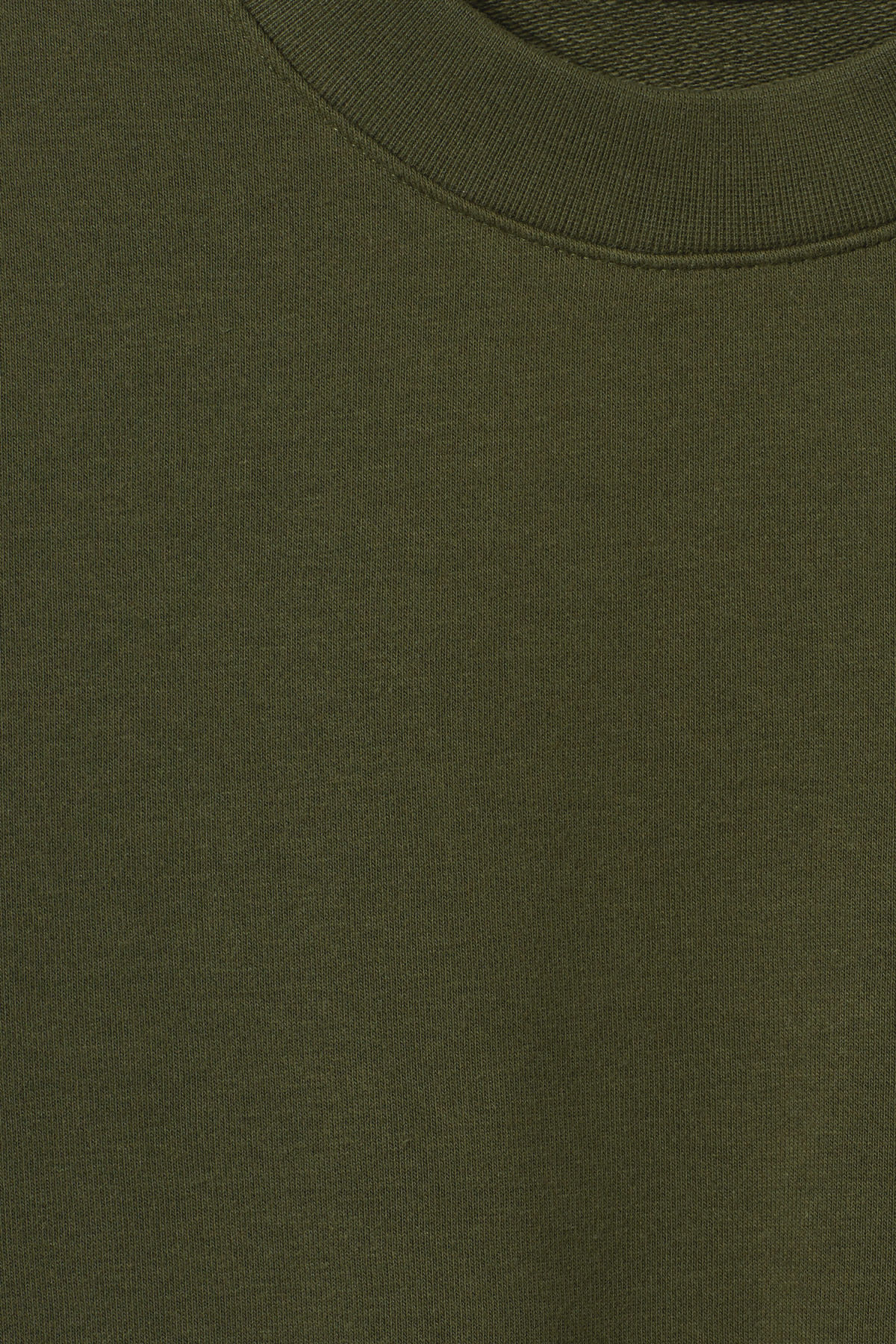 Detailed image of Weekday huge cropped sweatshirt  in green