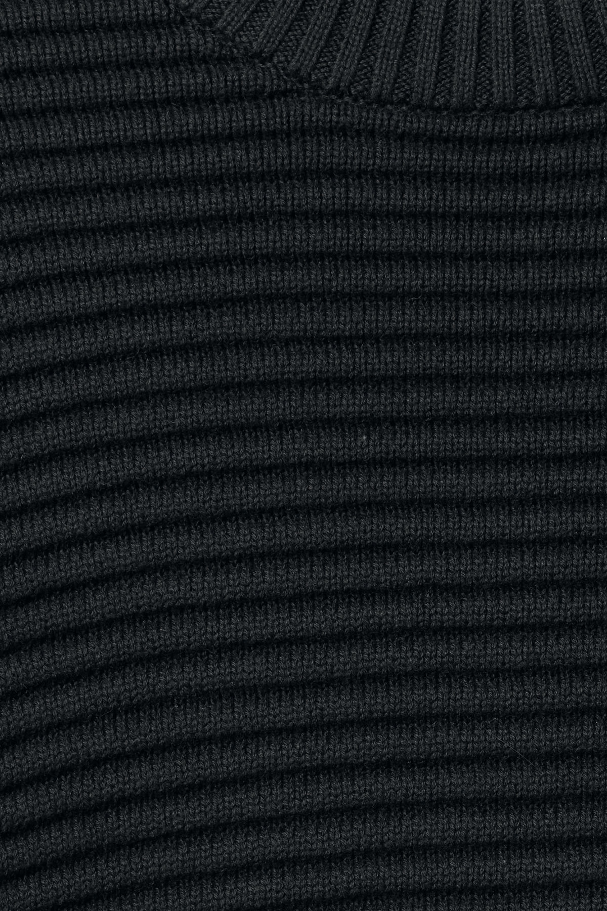 Detailed image of Weekday smyth waffle sweater  in black