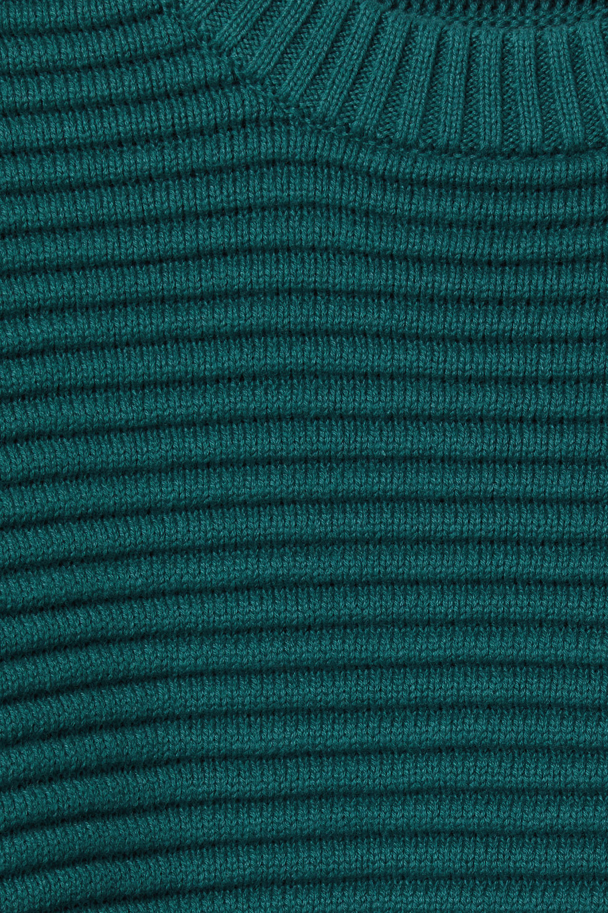 Detailed image of Weekday smyth waffle sweater  in turquoise