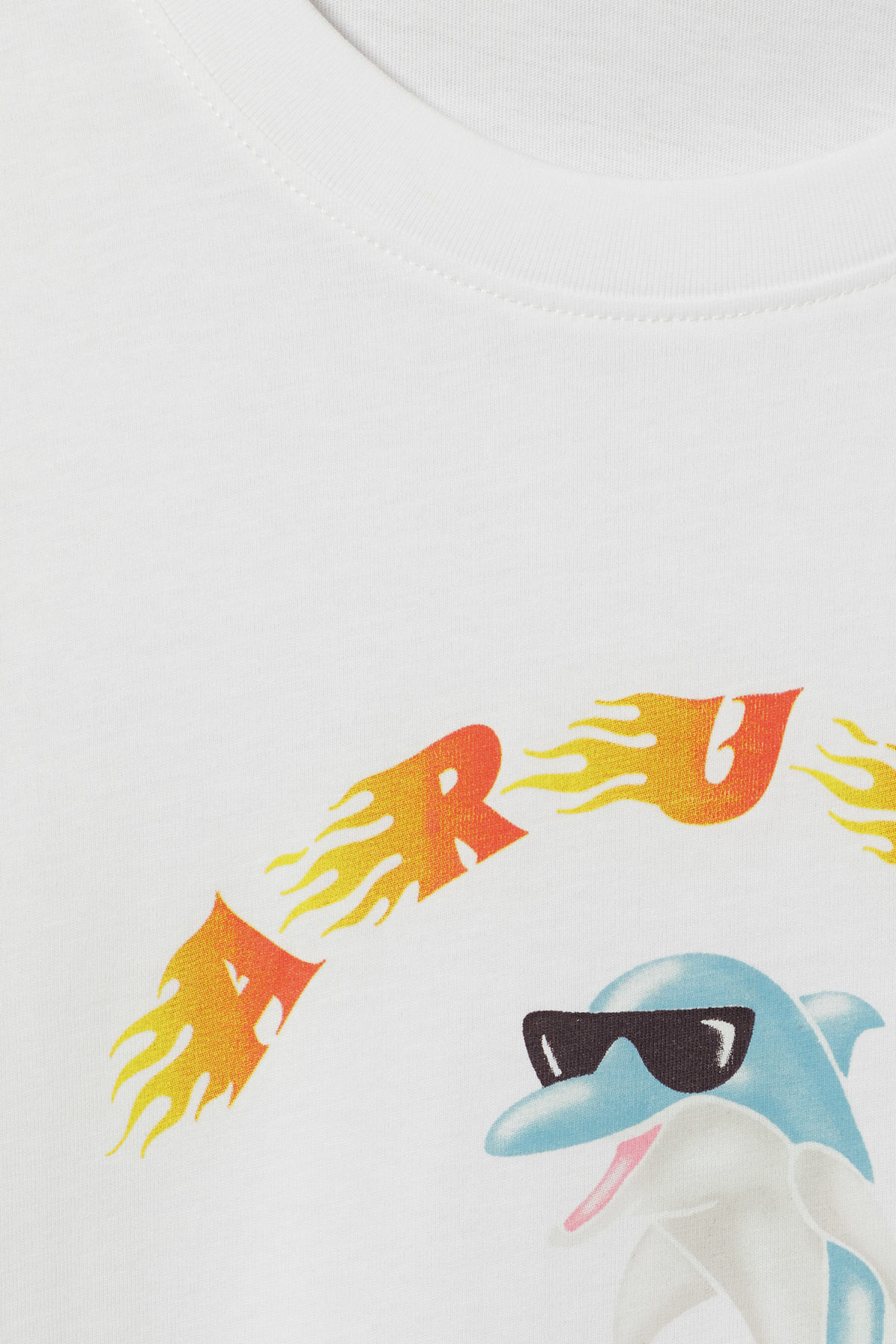 Detailed image of Weekday frank aruba t-shirt in white