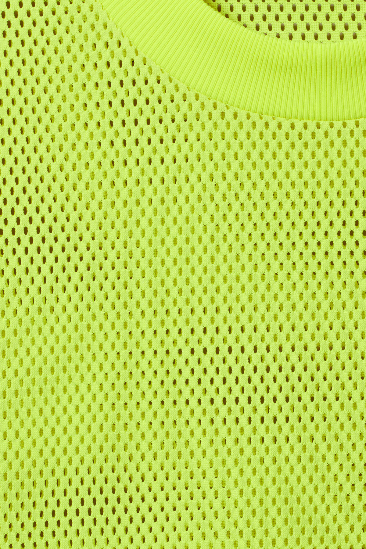 Detailed image of Weekday great mesh t-shirt in yellow